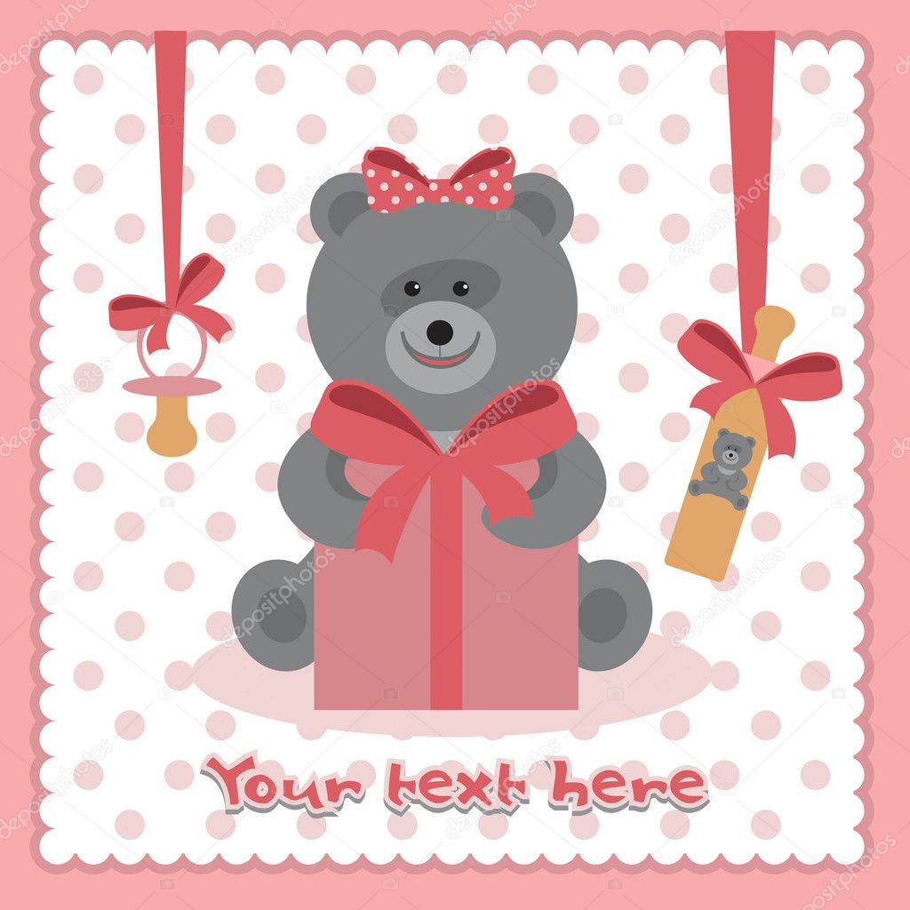 Teddy bear with a gift — Stock Vector #11453221