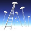 Stairway to the clouds — Stock Photo