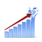 Positive business graph — Stock Photo