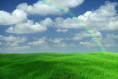 Landscape Rainbow — Stock Photo