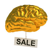 Golden brain — Stock Photo