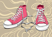 Pink Sneakers — Stock Vector