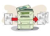 Copy Machine — Stock Vector