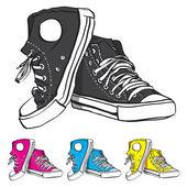 Set di scarpe da ginnastica — Vettoriale Stock
