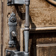 Antique door handle - Stock Photo