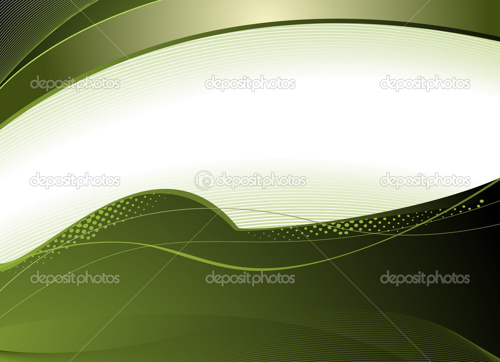 Simple green background with waves and abstract elements — Stock Vector #11537805