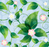 Bright wildflowers — Stock Vector
