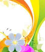 Bright bouquet of flowers — Stock Vector