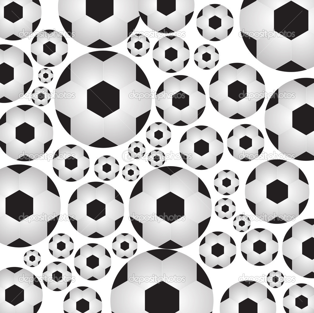 Abstract soccer balls on a white background. Sports background — Stock Vector #11602703