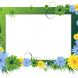 Bright floral frame — Stock Vector #11922896