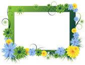 Parlak çerçeve çiçek — Stok Vektör