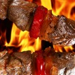 Barbecue on flaming hot — Stock Photo