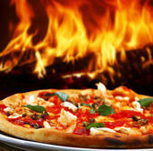 Forno pizza — Foto Stock
