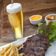 bière steak frite — Photo