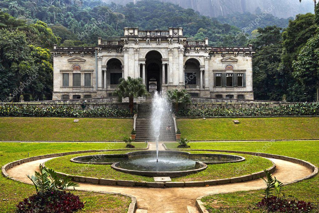 jardim vertical rio de janeiro:Parque lage, jardim botanico, Río de janeiro – Imagen de stock