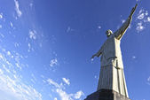 Christ the Redeemer statue in Rio de Janeiro in Brazil — Stock Photo
