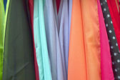 Variety of colorful scarves — Stock Photo