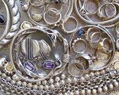 Pirate's silver treasure — Stockfoto