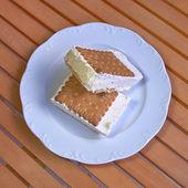 Home made ice cream sandwich — Stock Photo