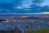 Acropolis at twilight, Athens Greece — Stock Photo