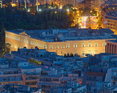 Det grekiska parlamentet på twilight — Stockfoto