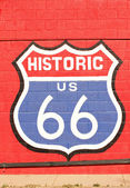 Historic route 66 symbol — Stock Photo