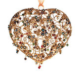 Heart jewelry tree-dimensional isolated — Stock Photo