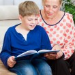 Reading to me — Stock Photo