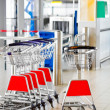 Airport security check point, luggage carts. — Foto de Stock   #11980477