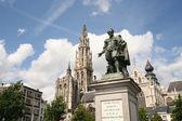 Rubens Statue in Antwerp — Stock Photo