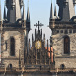 Tyn Cathedral Towers — Stock Photo