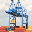 Stock Photo: Large Harbor Crane