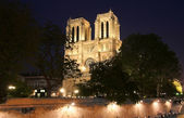 Notre Dame at Night — Stock Photo