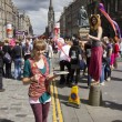 Stock Photo: Performers at Edinburgh Festival