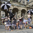 Performers at Edinburgh Festival — Stock Photo