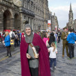 Medieval Knight at Edinburgh Festival — Stock Photo