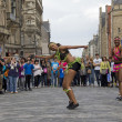 African Dancers on Edinburgh Festival — Stock Photo