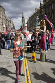 Performers at Edinburgh Festival — Stockfoto