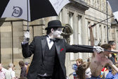 Performers at Edinburgh Festival — ストック写真