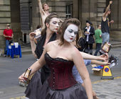 Performers at Edinburgh Festival — Stok fotoğraf