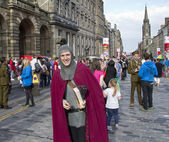 Medieval Knight at Edinburgh Festival — Stockfoto
