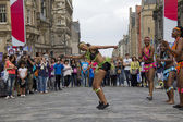 African Dancers on Edinburgh Festival — 图库照片