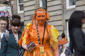 Flyering at Edinburgh Festival Fringe — Stock Photo