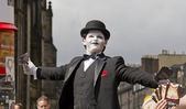 Joker at Edinburgh Festival — Stock Photo