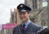 Soldier at the Edinburgh Festival Fringe — Stock Photo