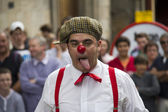 Clown at Edinburgh Festival Fringe — Stok fotoğraf
