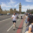 Stock Photo: Jogging on Westminster Bridge