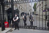 Guards at Downing Street, London, UK — Stock Photo