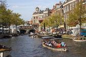 Kanal leiden, hollanda — Stok fotoğraf