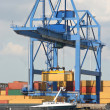 Large Harbor Crane — Stock Photo